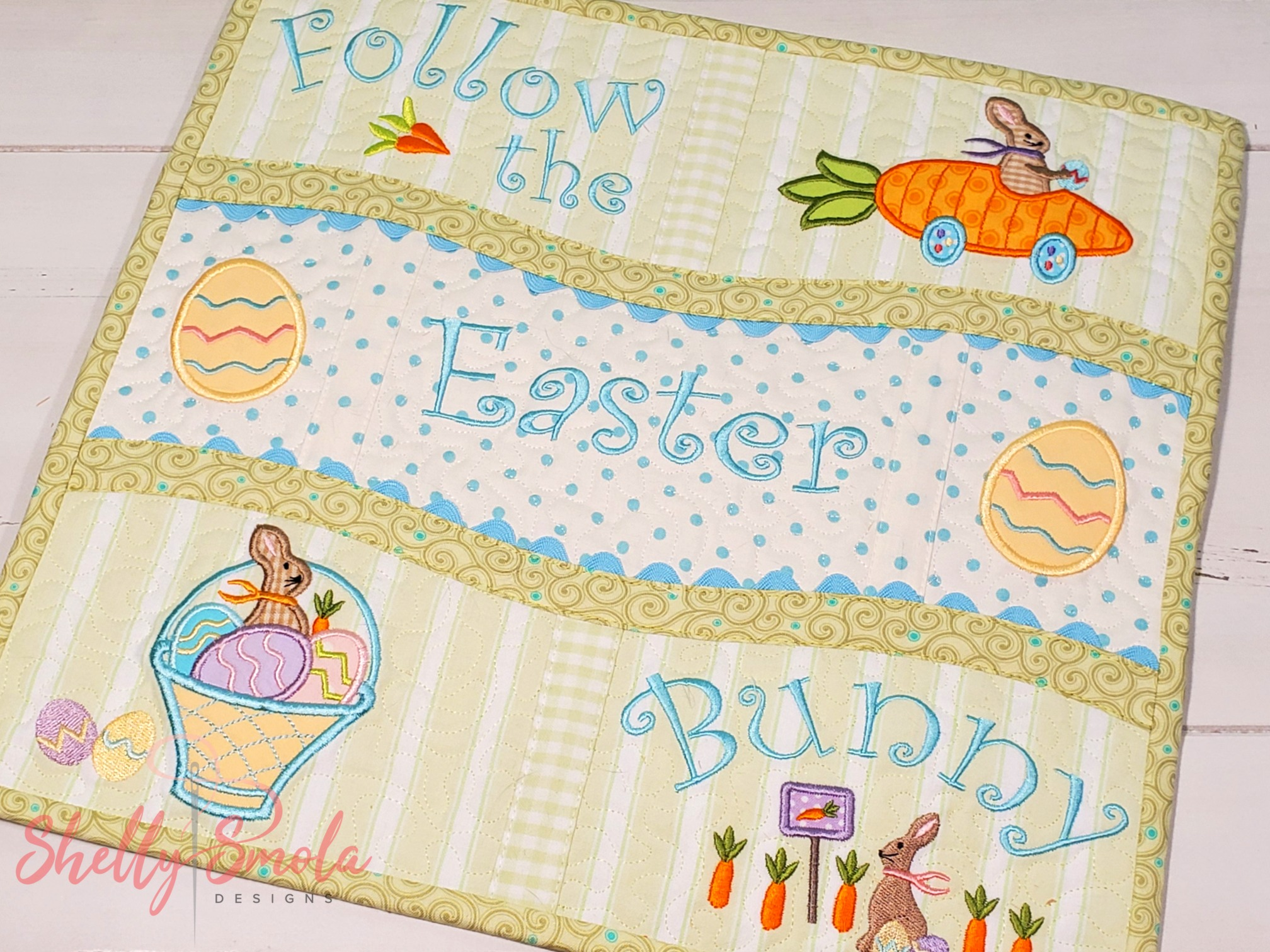 Bunny Kisses Placemat by Shelly Smola