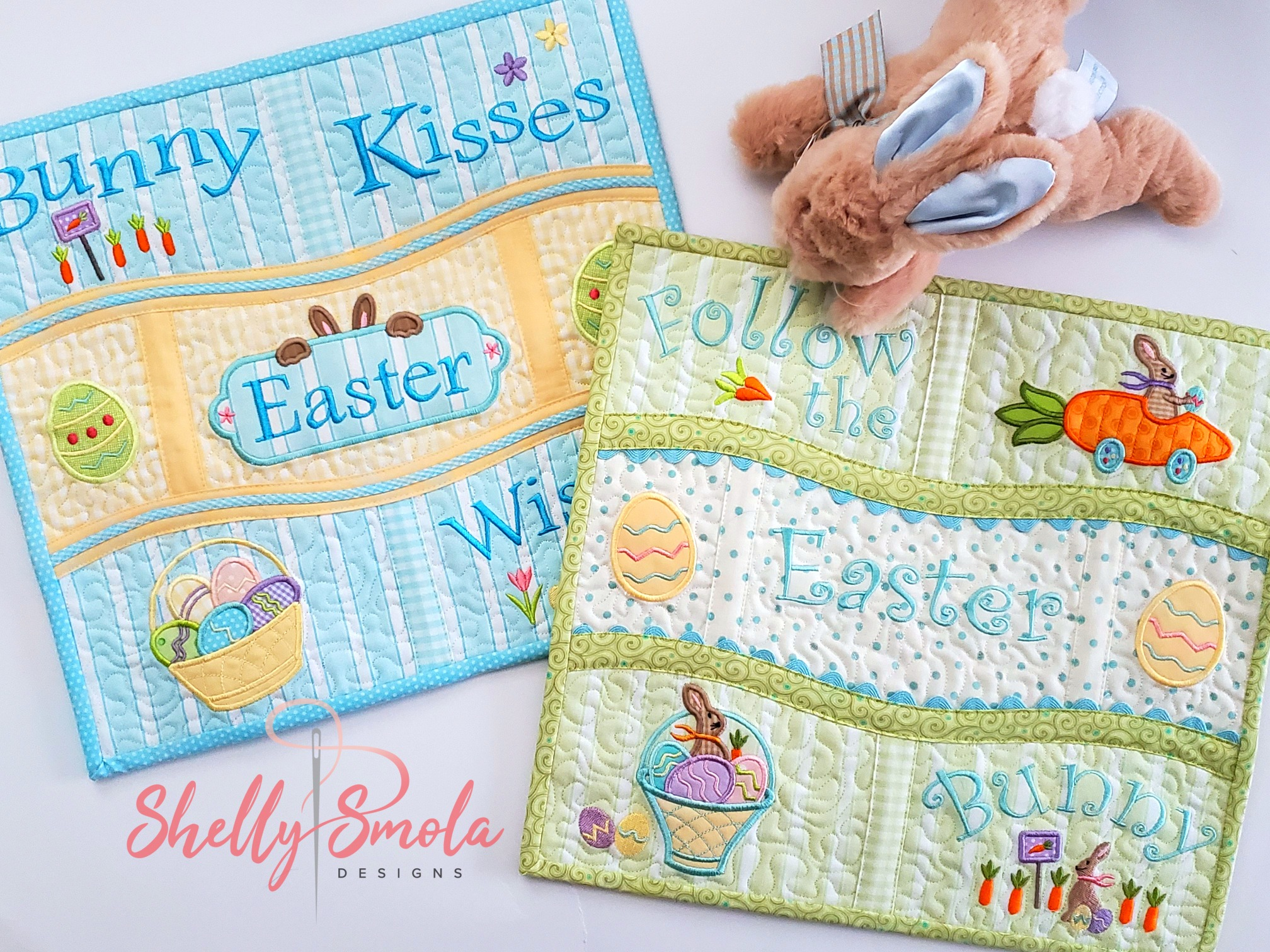 Bunny Kisses Placemats by Shelly Smola