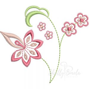 Flower Embroidery Design by Shelly Smola