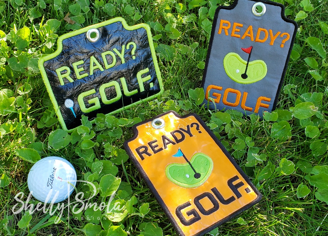 Golf Pass Holders by Shelly Smola