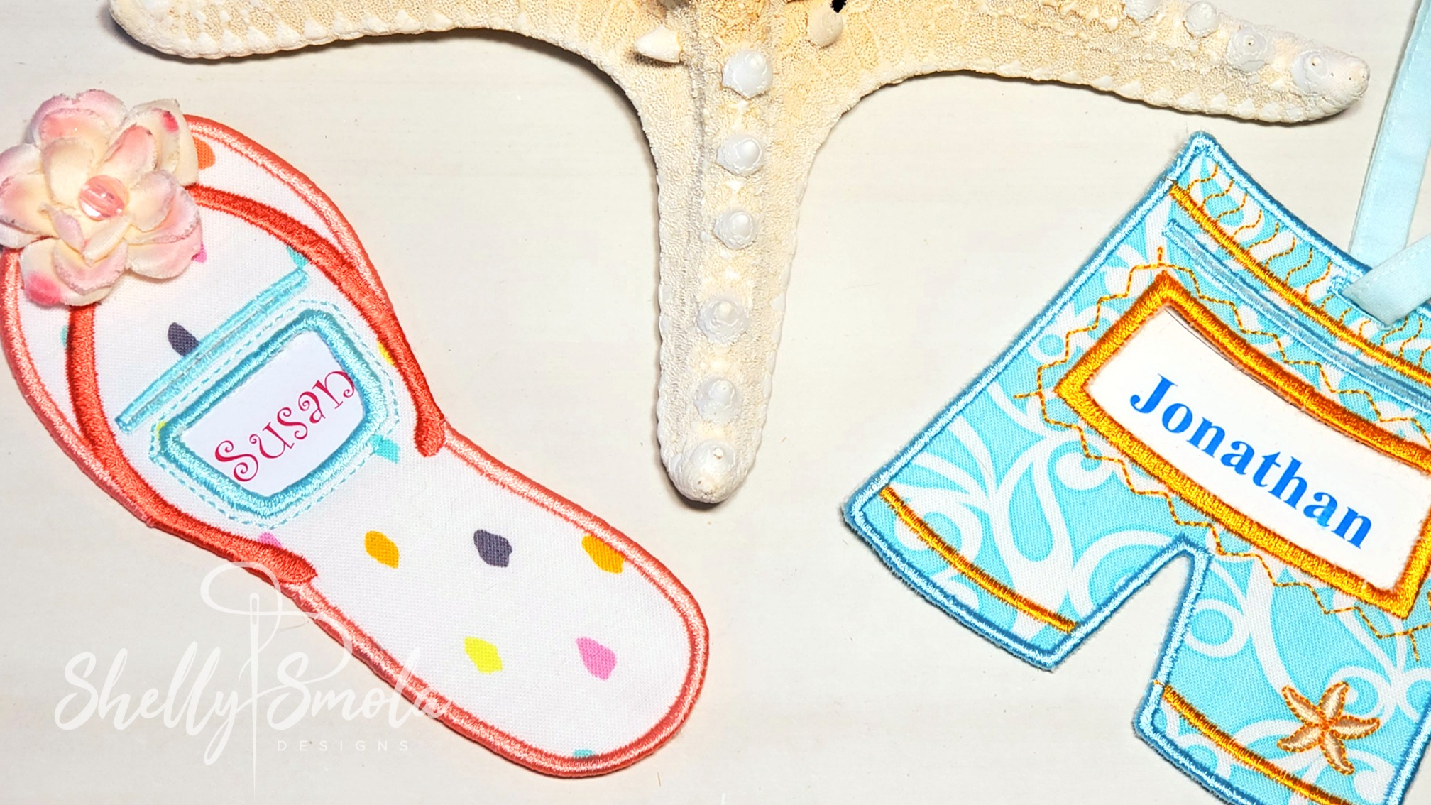 Embroidery Beach Tag
