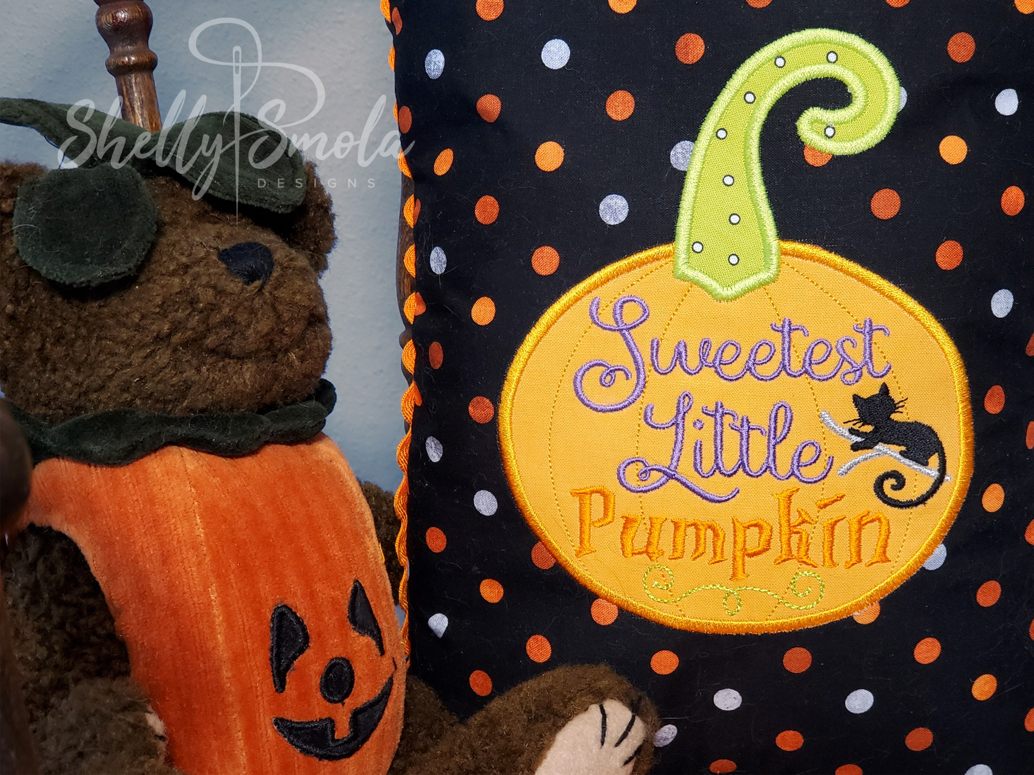 Sweetest Pumpkin Pillow by Shelly Smola