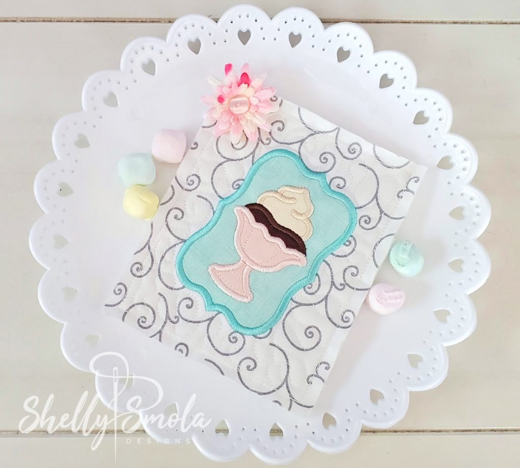 Embroidered Tea Time Quilt Pudding