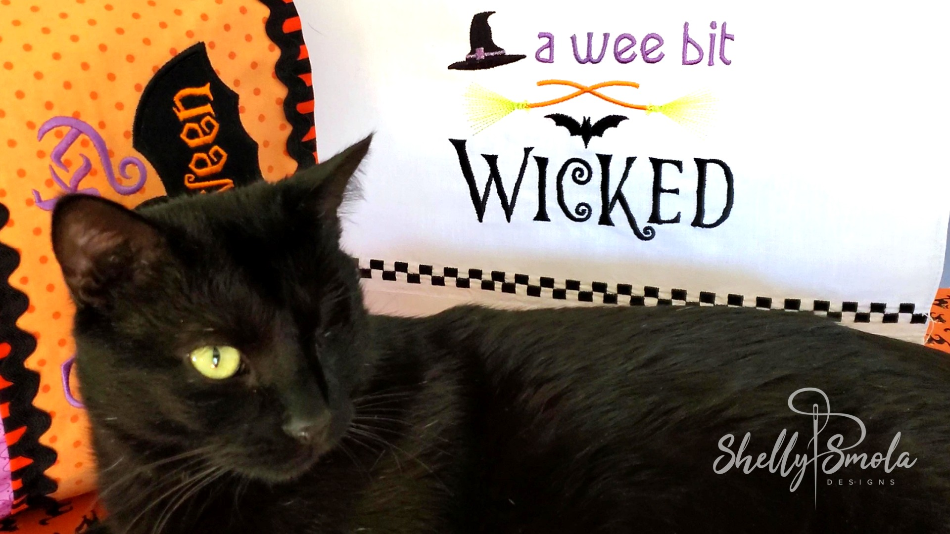 Wee Bit Wicked with Spooky the Cat by Shelly Smola