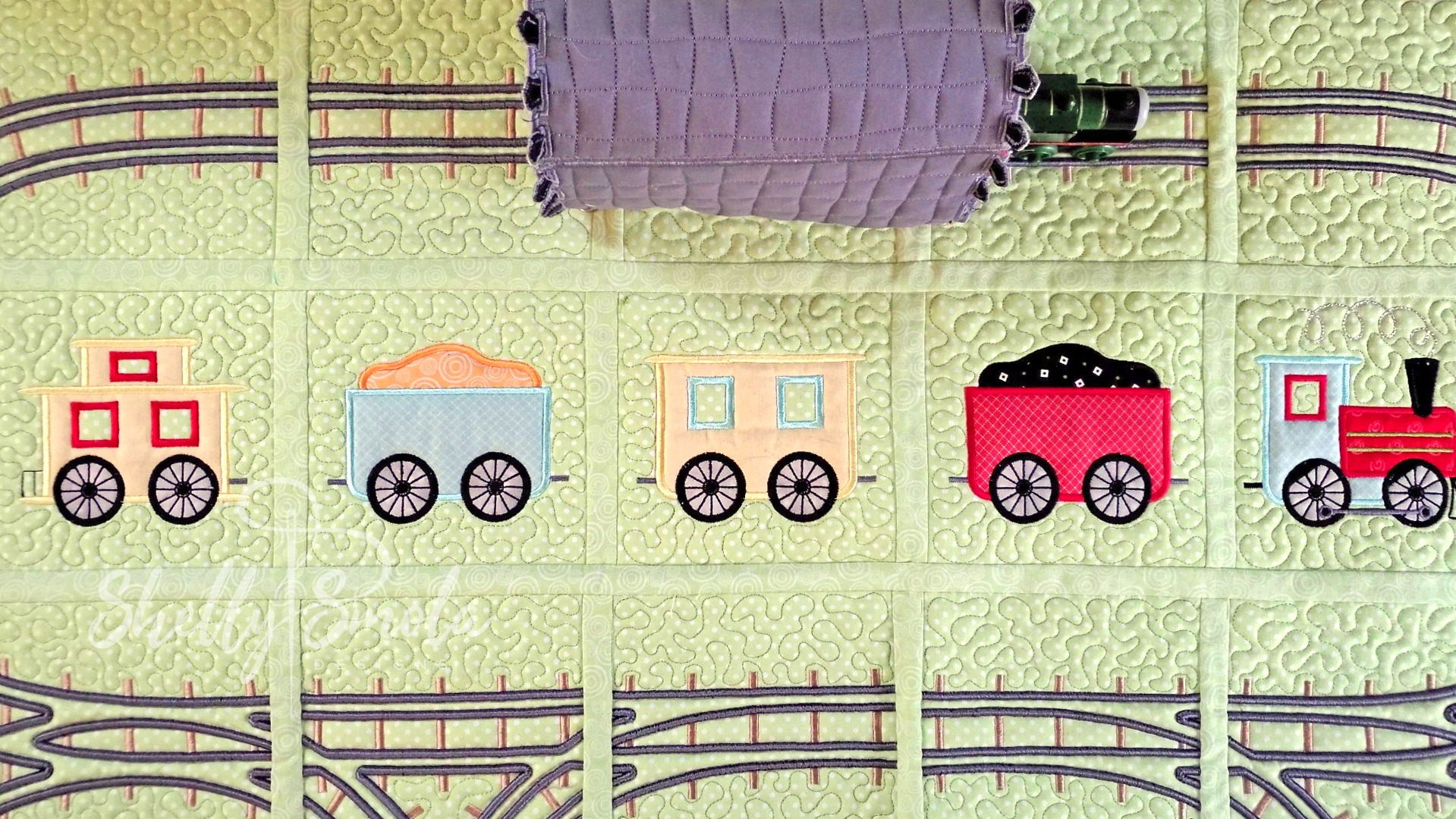 Bedtime Rail Line Tunnel by Shelly Smola
