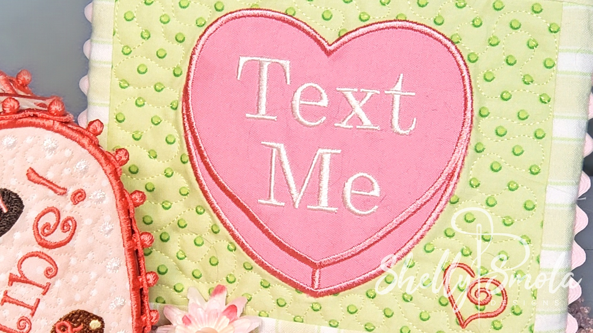 Text Me Candy Heart by Shelly Smola
