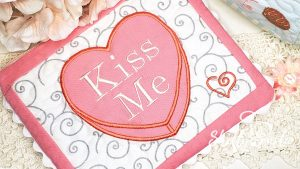 Kiss Me Candy Heart by Shelly Smola