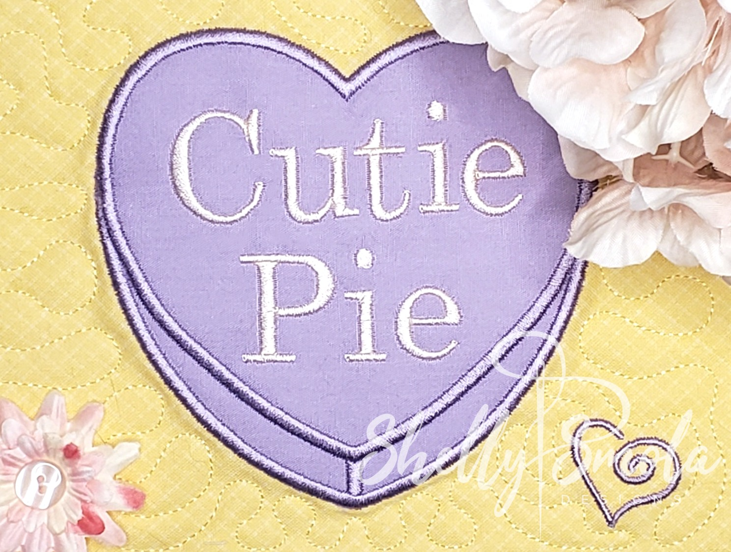 Cuite Pie Candy Heart by Shelly Smola
