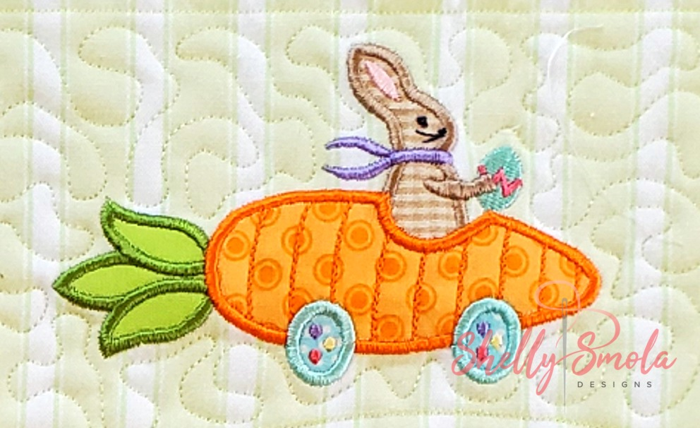 Bunny Carrot Car by Shelly Smola