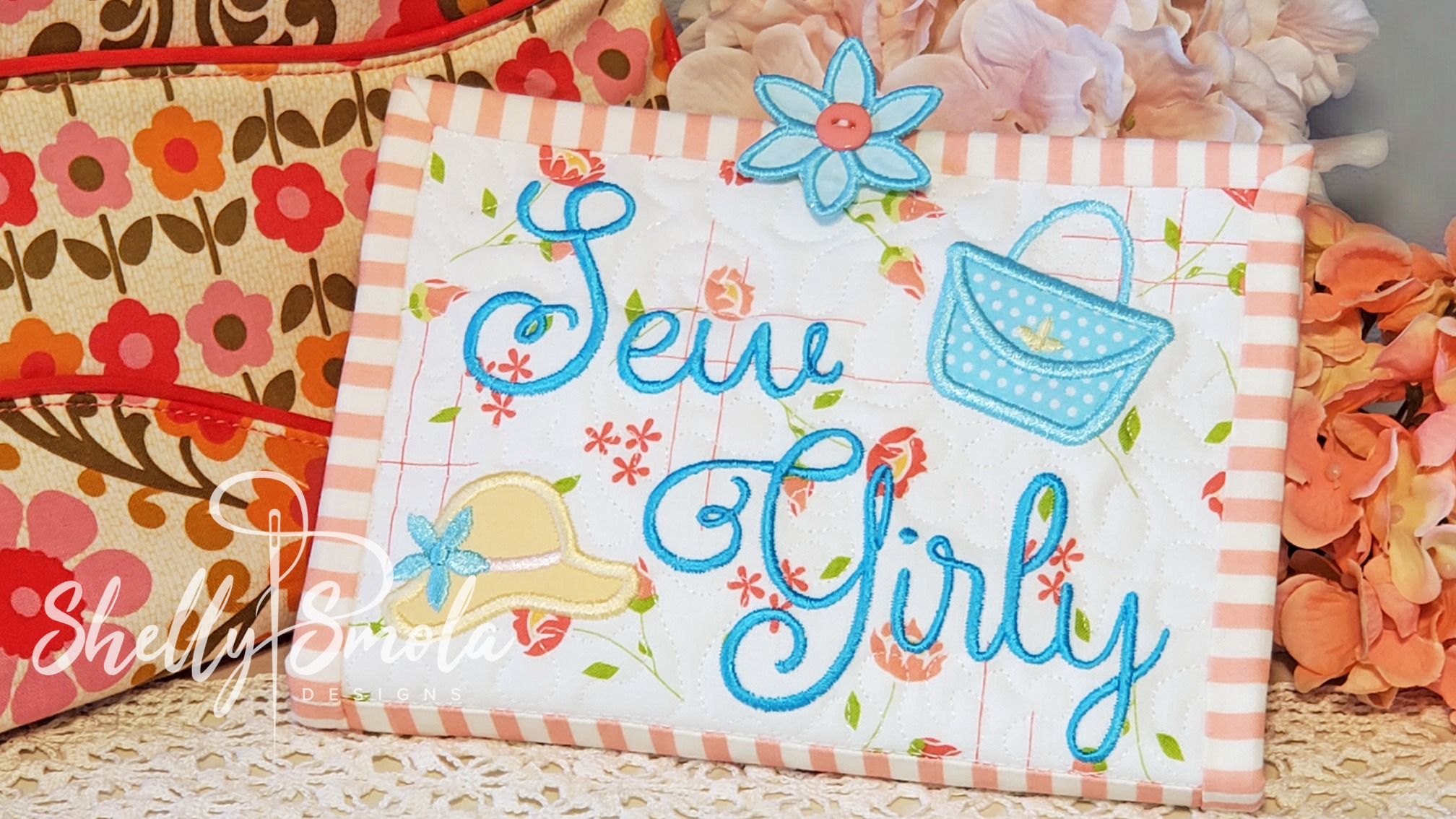 Sew Girly Makeup Case by Shelly Smola