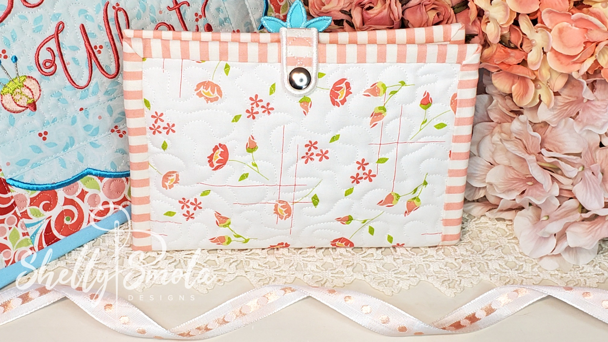 Sew Girly Makeup Case Back by Shelly Smola