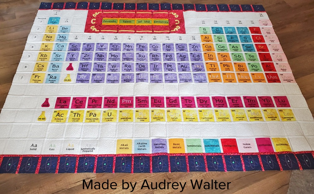 Periodic Table Quilt by Audrey Walter