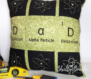 The Elementally Dad Pillow by Shelly Smola