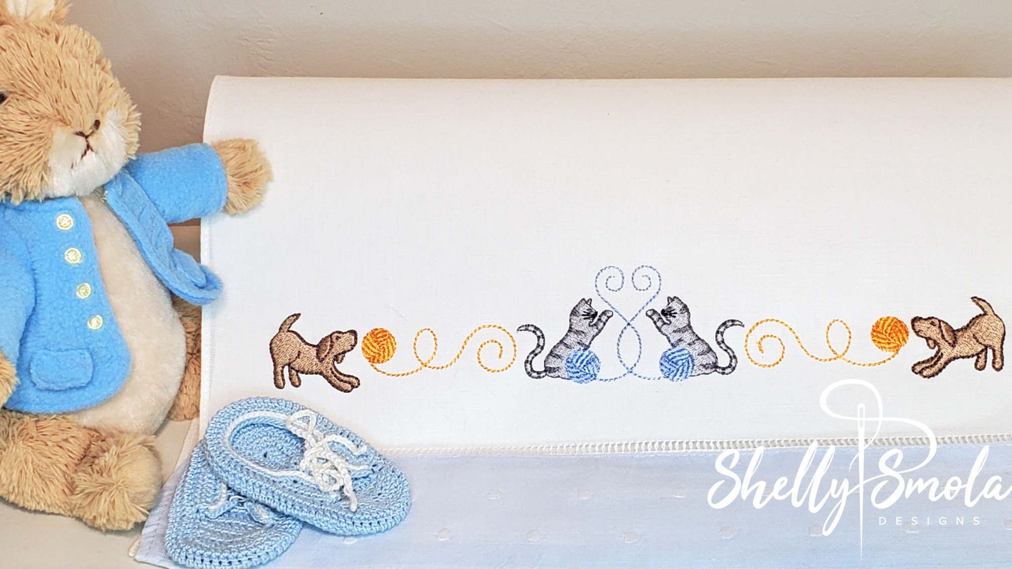 Playful Threads Border by Shelly Smola