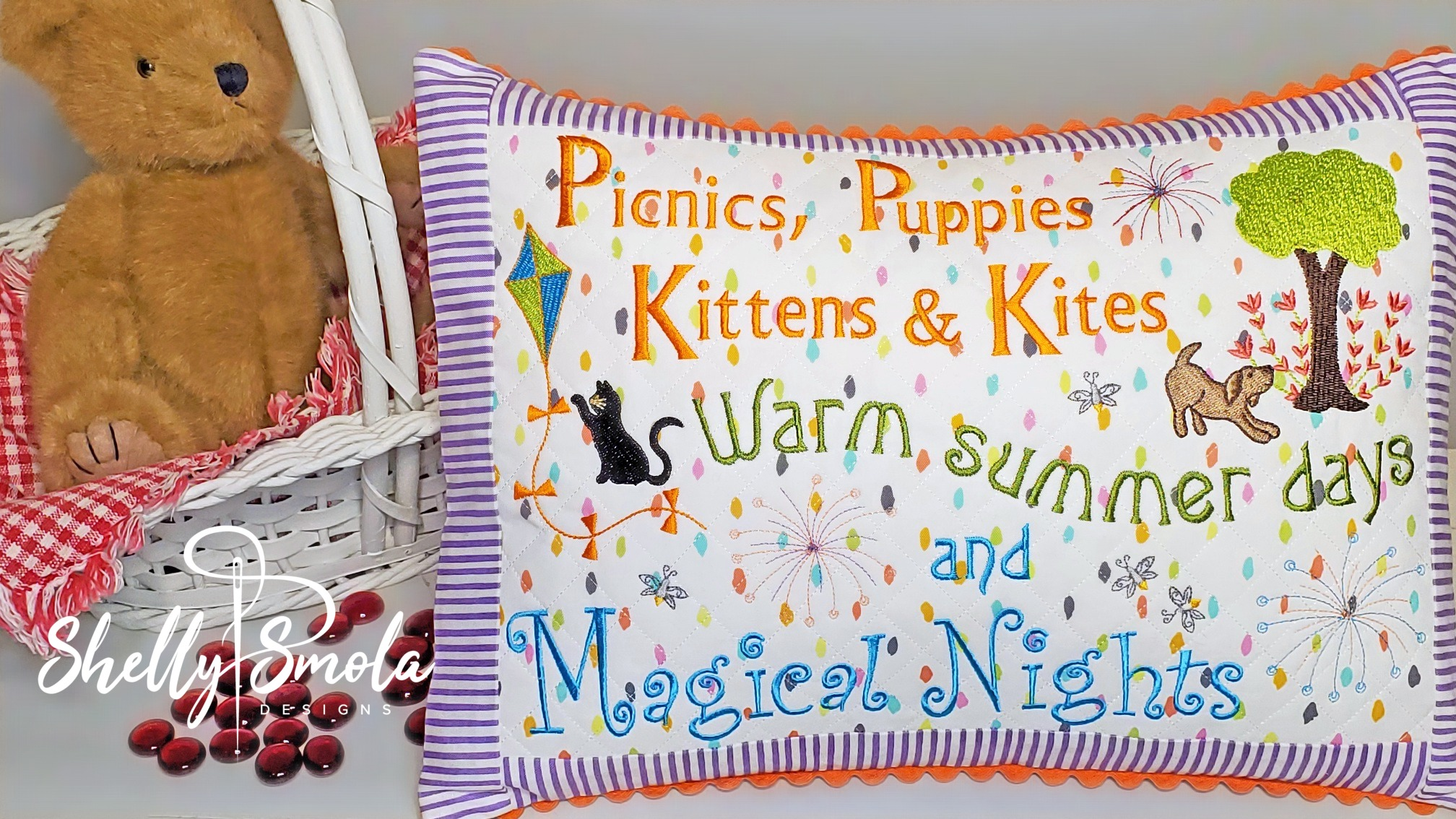Magical Nights Pillow by Shelly Smola