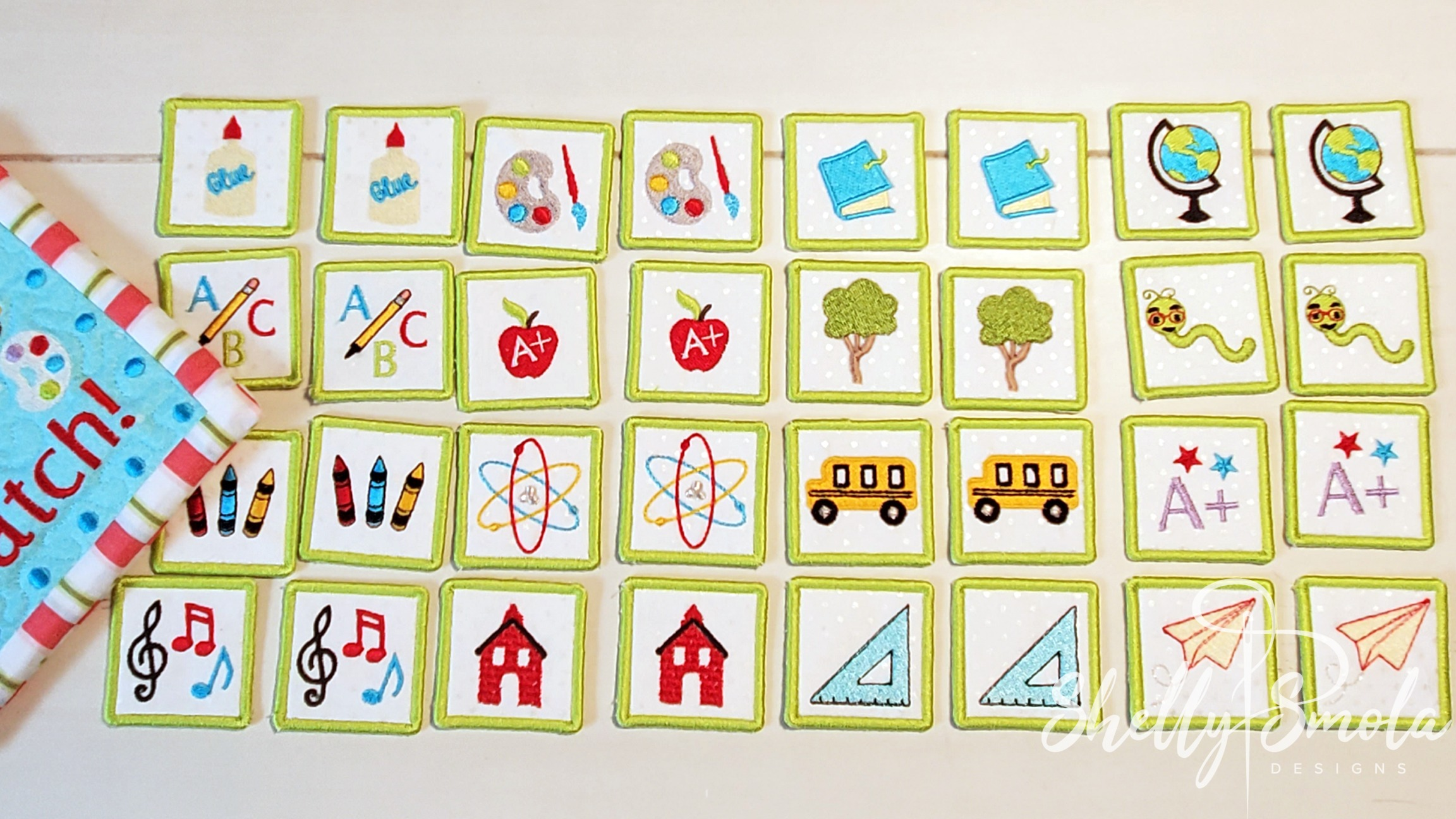 School Memory Game Cards by Shelly Smola