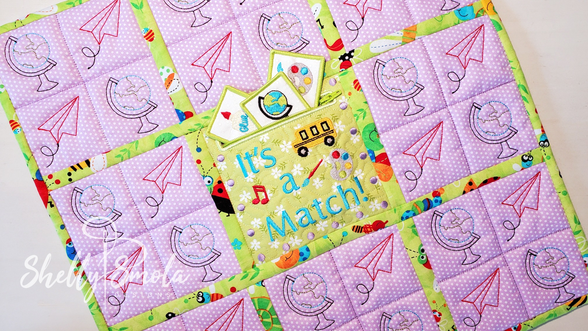 It's a Match Game Quilt by Shelly Smola