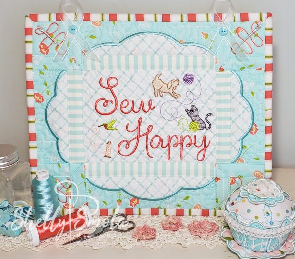 Sew Crazy - Sew Happy Wall Hanging by Shelly Smola