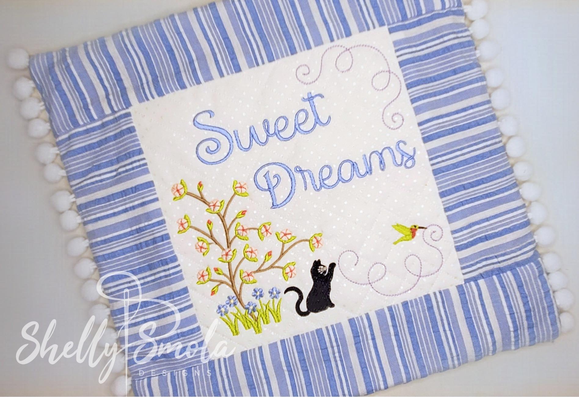 Sweet Dreams Pajama Bag Closeup by Shelly Smola