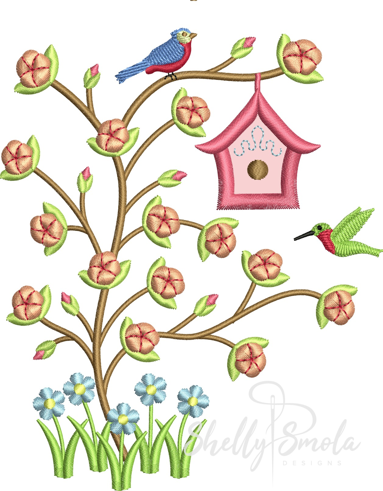 Garden Gadgets Flowering Tree by Shelly Smola