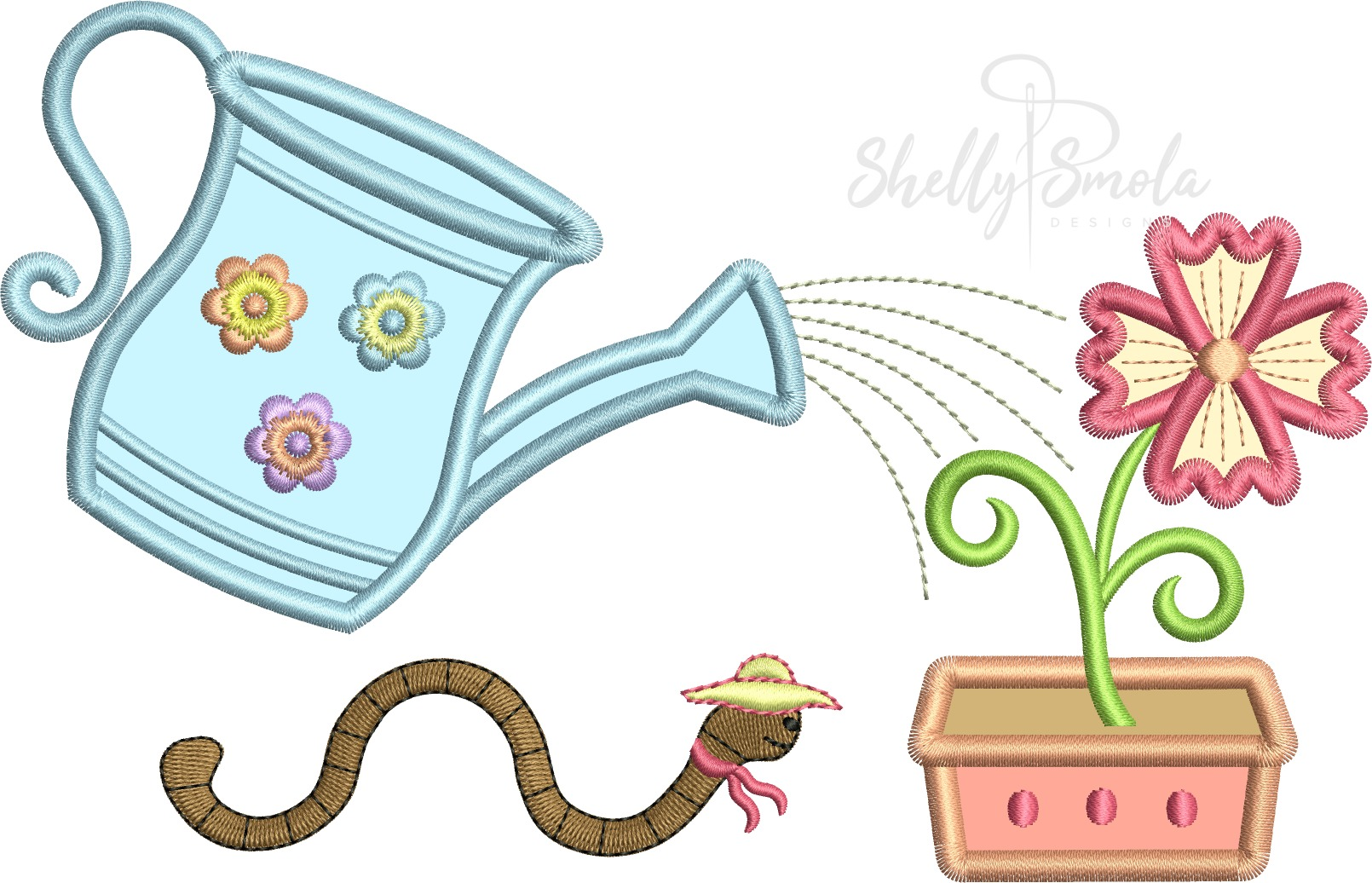 Watering Flowers by Shelly Smola