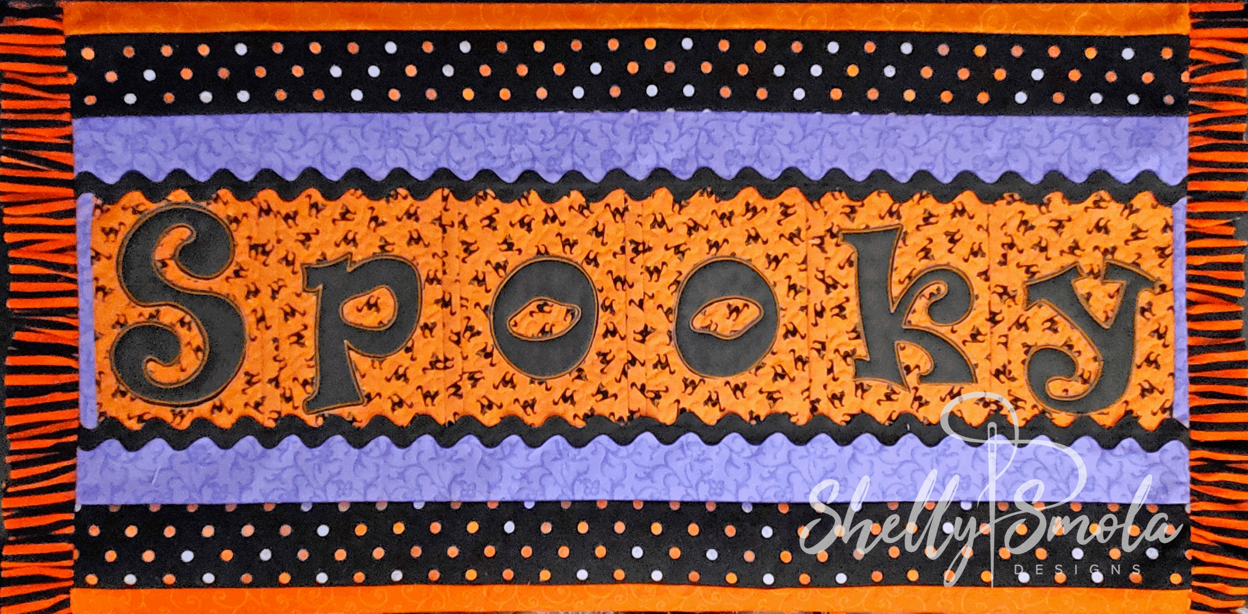 Spooky Bench Pillow by Shelly Smola